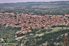 View of the town of Litochoro, Greece. One View of the town of Litochoro, Greece Royalty Free Stock Images