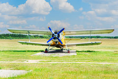 One vintage airplanes Stock Photography