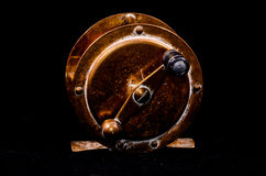 One Vintage Old Metal Fishing Reel Royalty Free Stock Images