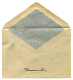 One vintage soviet russian envelope isolated, Stock Photography