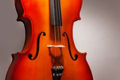 One violoncello fragment in vertical position Royalty Free Stock Images