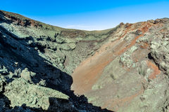 One of the volcanic craters in Timanfaya National Park, Lanzarote Stock Photography
