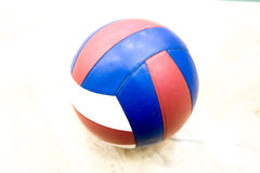 One volleyball in the gym Royalty Free Stock Photos