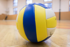 One volleyball in the gym Stock Images