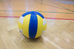 One volleyball in the gym Royalty Free Stock Images