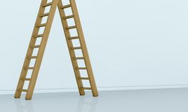 One wall with a ladder Royalty Free Stock Photos