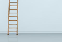 One wall with a ladder Royalty Free Stock Images