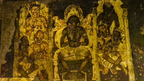 The one with the wall paintings. Ajanta and Ellora caves situated in the Aurangabad district of India are home to one of the largest collection of cave paintings Stock Photo