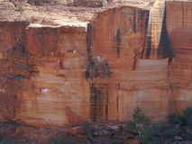 One of the walls of the Kings canyon royalty free stock image