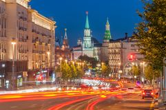 One of the warm summer evenings. Tverskaya Street, Moscow Stock Image