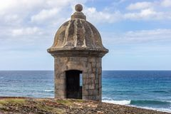 One of the Watchtowers of Old San Juan royalty free stock photo