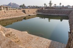 One of the water tanks, Hampi, Karnataka, India. One of many water tanks in Hampi, Karnataka, India, Asia stock photos