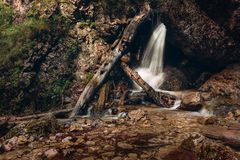 Janosik Holes - Mala Fatra - Slovak Republic. One of the waterfalls in Janosik Holes - Mala Fatra - Slovak Republic royalty free stock photo