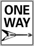 one-way гитары Стоковое Фото