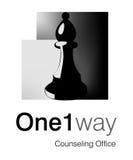 one-way логоса Стоковая Фотография