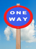 One way. Royalty Free Stock Images