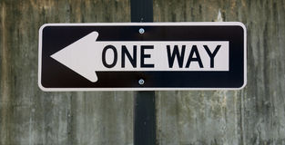 One Way Stock Image