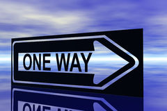 One way. Illustration of one way sign stock illustration