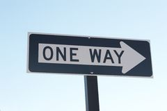 One Way. Sign Stock Photo