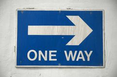 One Way. Sign Royalty Free Stock Images