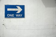One Way. Sign Stock Image