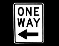 One Way stock photos