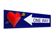 One-way ad amore Fotografie Stock