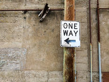 One Way Alley Sign Royalty Free Stock Image