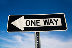 One way arrow sign in USA Stock Photo