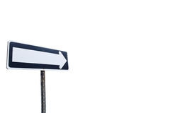 One way Direction sign. A one way direction sign isolated on a white background Stock Photography