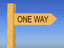 One Way directional road sign Royalty Free Stock Photography