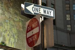 One Way - Do Not Enter Royalty Free Stock Photos