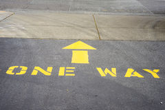 One way driveway Royalty Free Stock Images