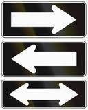 One-Way e strada a doppio senso di circolazione Cile illustrazione di stock