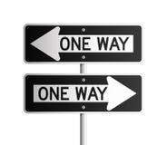 one-way för 2 bräde Arkivfoton