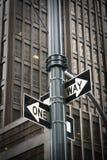 One-way für zwei Richtungen Lizenzfreies Stockfoto