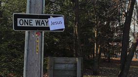 ONE WAY - Jesus sign Stock Photos