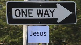 ONE WAY - Jesus Royalty Free Stock Photo