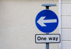 One way left Royalty Free Stock Photography