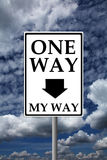 One way my way Royalty Free Stock Images