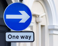 One way right Stock Photography