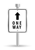 One way road sign advertising design, royalty free illustration