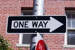 One way road sign Royalty Free Stock Photography