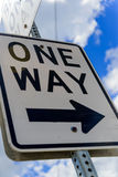 One way road signage. One Way directional road sign Royalty Free Stock Photos