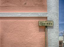 One Way Sigh Stock Image