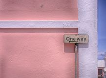 One Way Sigh royalty free stock images
