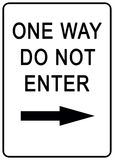 One way sign. Illustration sign Stock Photography