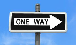 One-way sign Stock Image