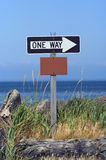 One way sign. One way with empty box for message Stock Photography