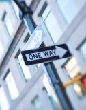 A one way sign Stock Photography